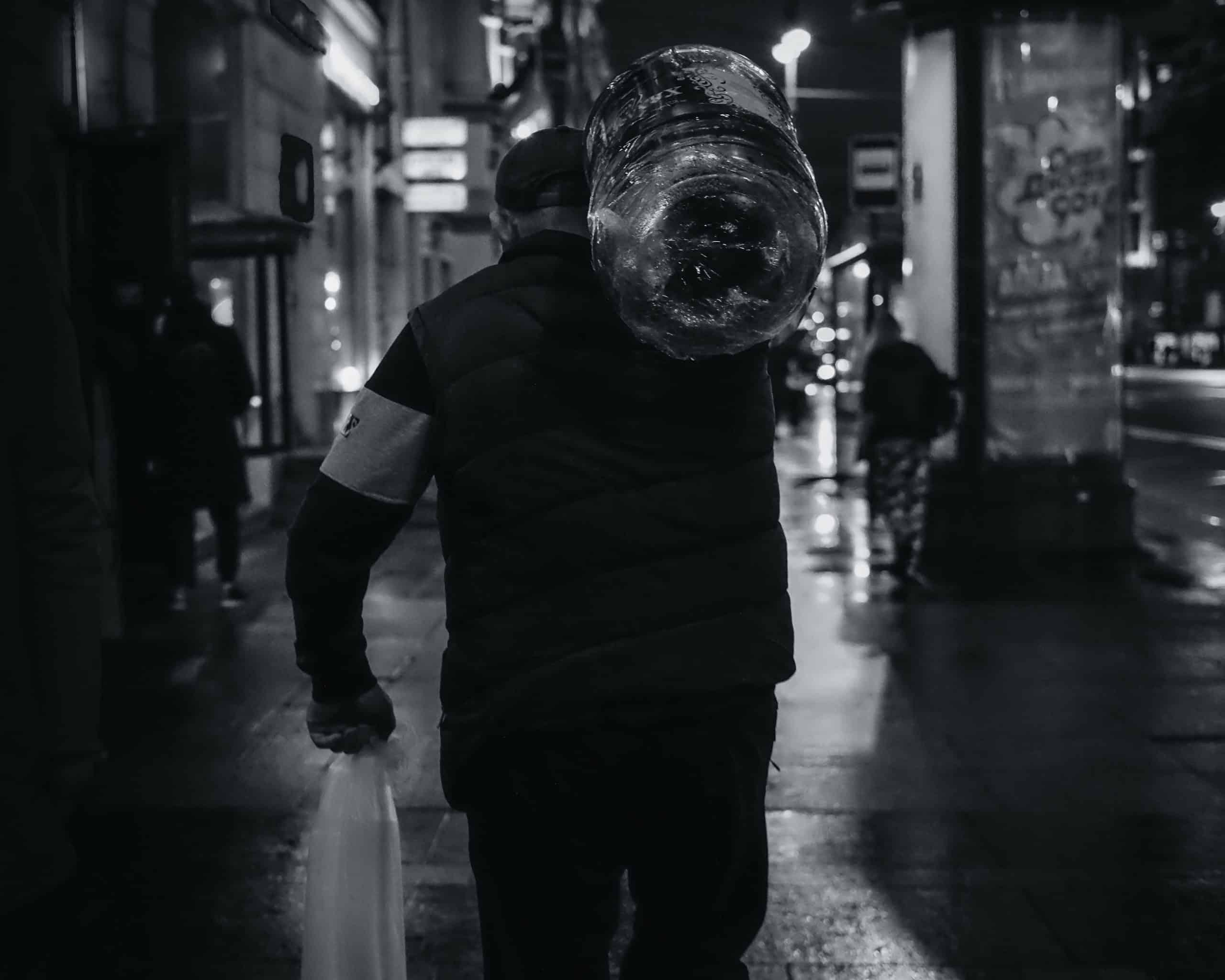 Ouvrier en travail de nuit